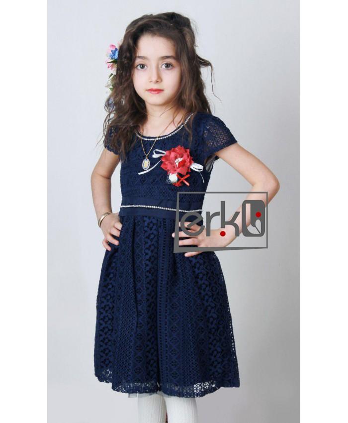 لباس و پیراهن مجلسی دخترانه بچه گانه کوتاه شیک و جدید 2017 ترک مدل erikli-g2