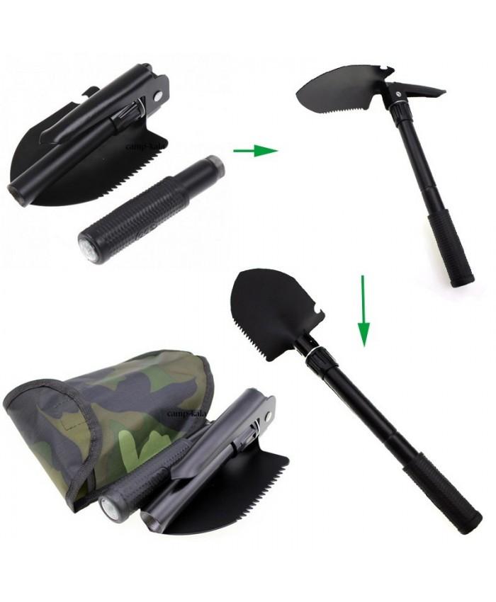 بیلچه تاشو چندکاره نظامی تاکتیکال